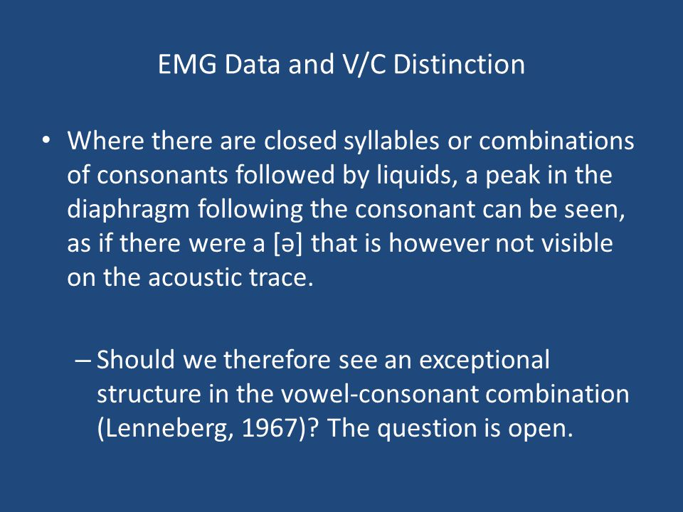 EMG Data and V/C Distinction