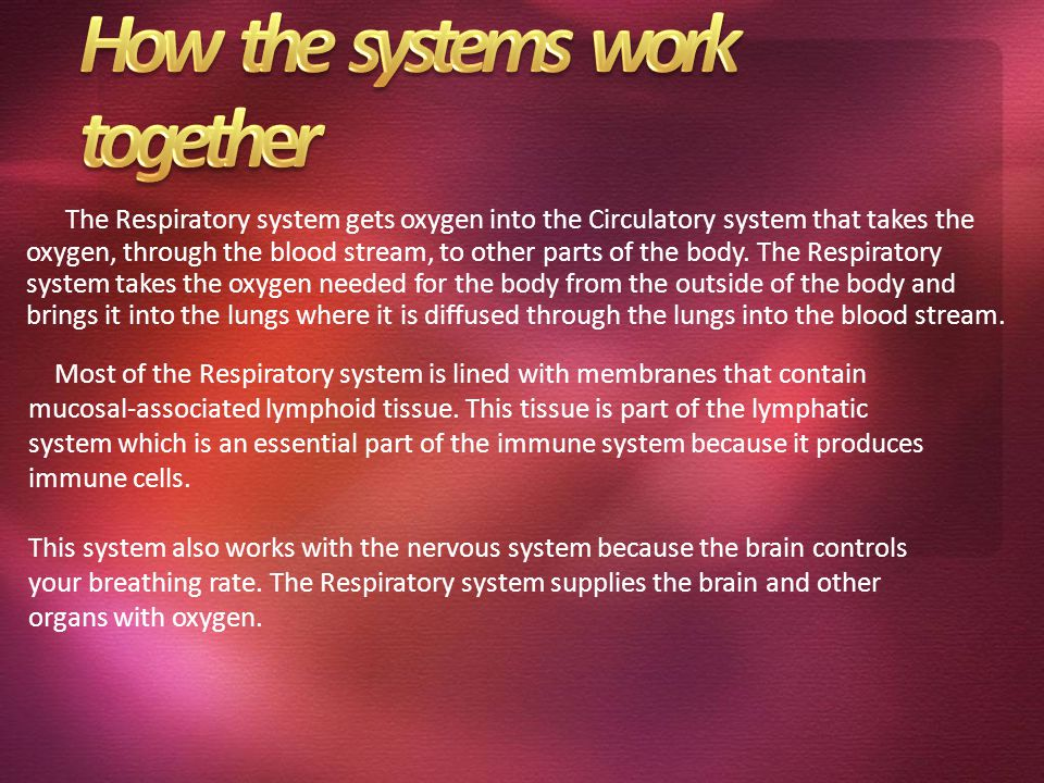 How the systems work together