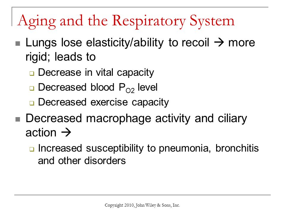 Aging and the Respiratory System