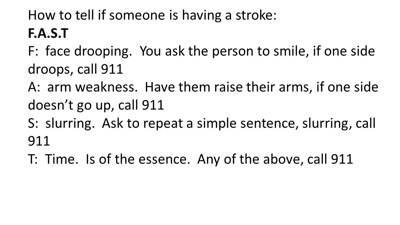 How to tell if someone is having a stroke: