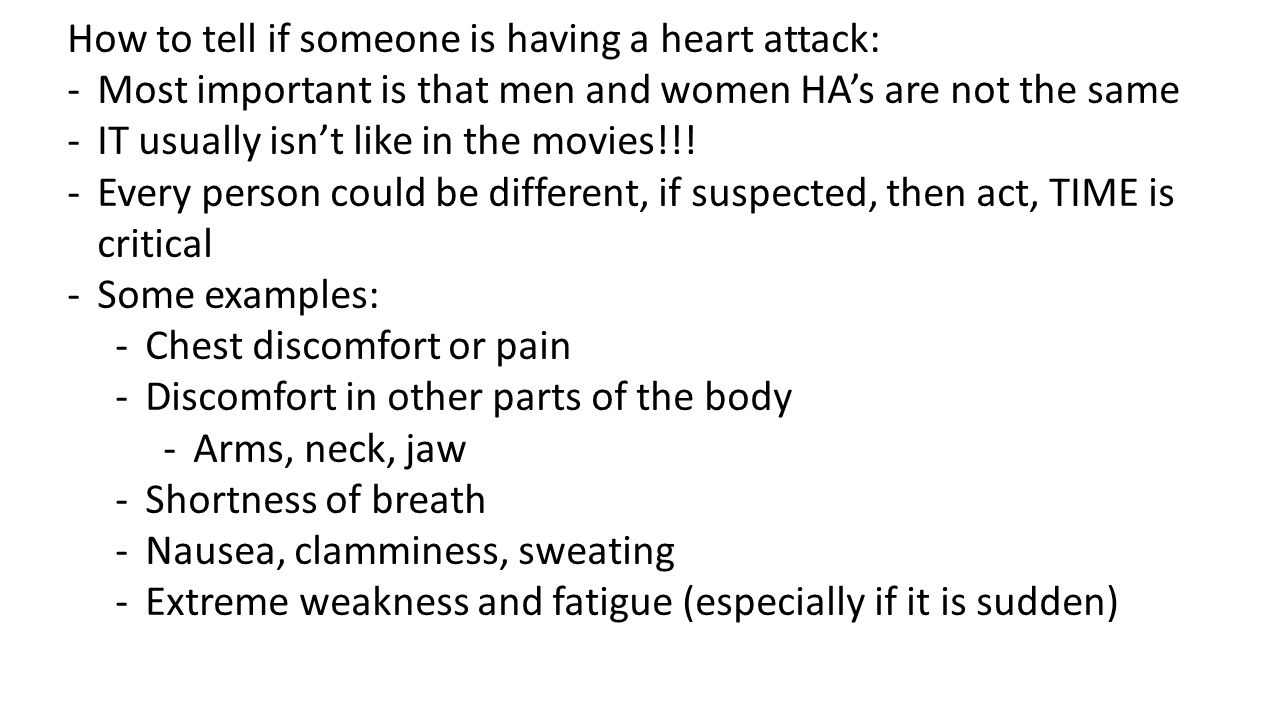 How to tell if someone is having a heart attack: