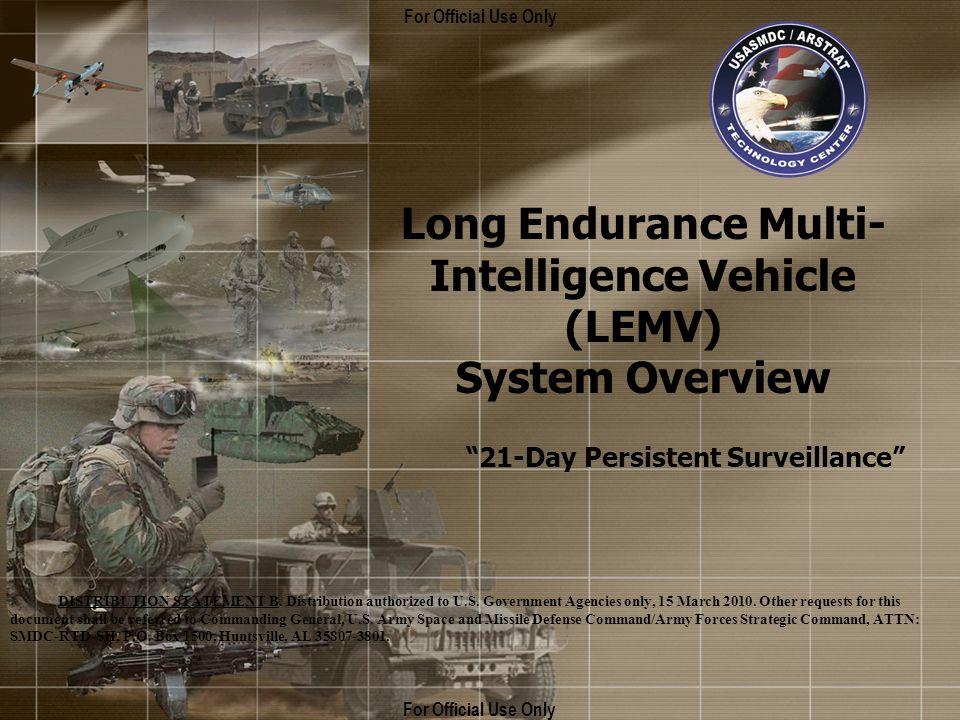 Long Endurance Multi-Intelligence Vehicle (LEMV)