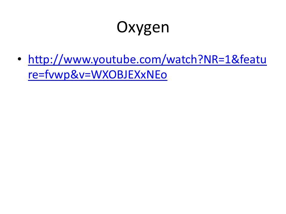 Oxygen http://www.youtube.com/watch NR=1&feature=fvwp&v=WXOBJEXxNEo