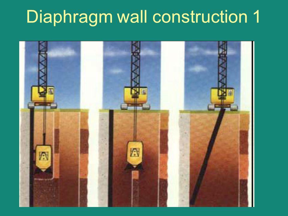 Diaphragm wall construction 1
