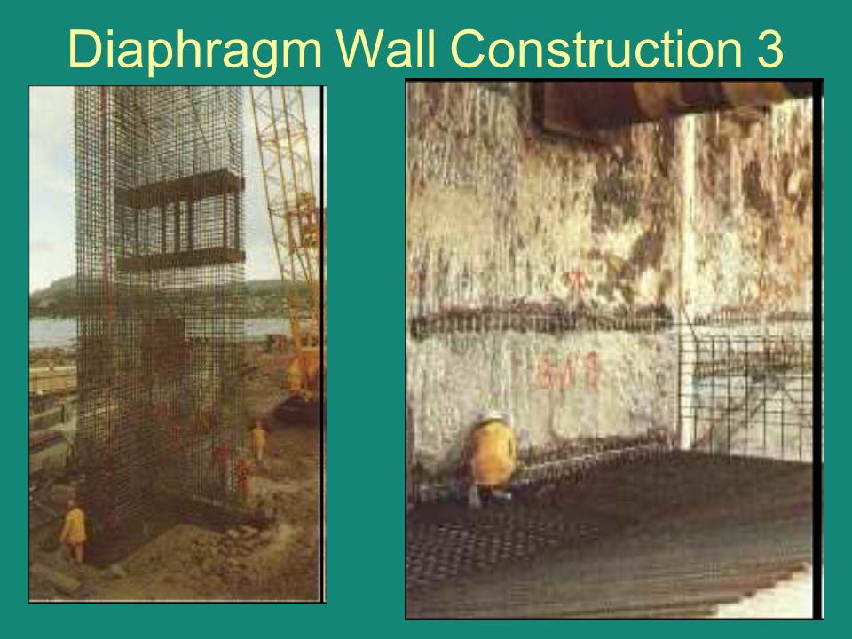 Diaphragm Wall Construction 3