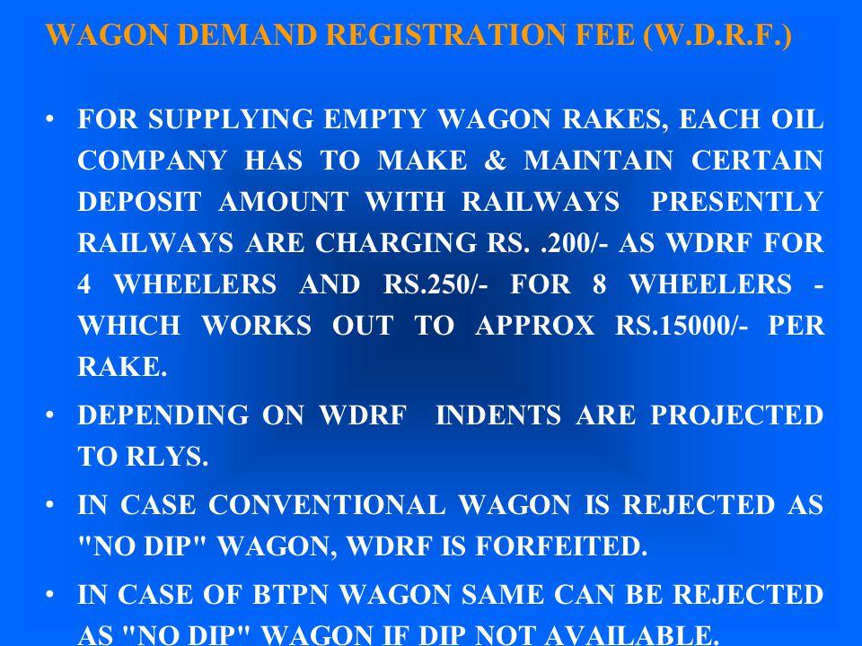 WAGON DEMAND REGISTRATION FEE (W.D.R.F.)