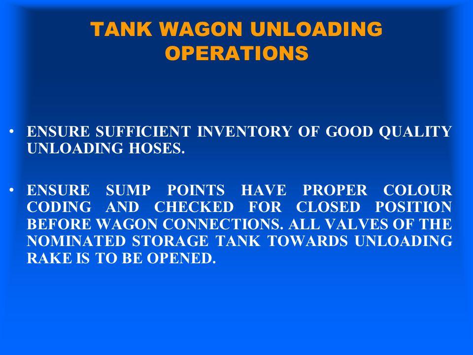 TANK WAGON UNLOADING OPERATIONS