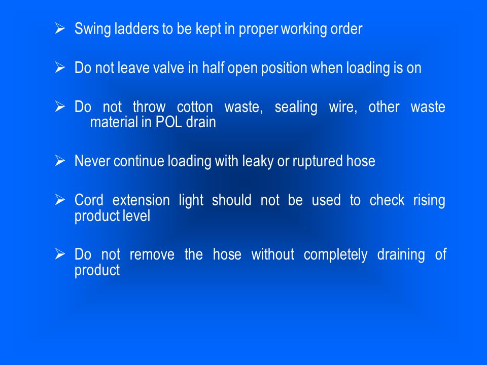 Swing ladders to be kept in proper working order