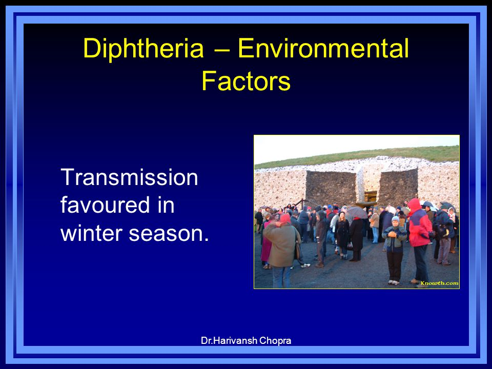 Diphtheria – Environmental Factors