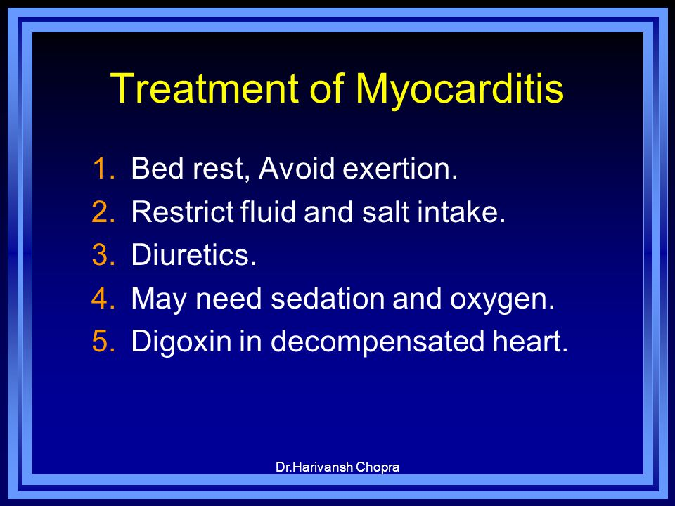 Treatment of Myocarditis