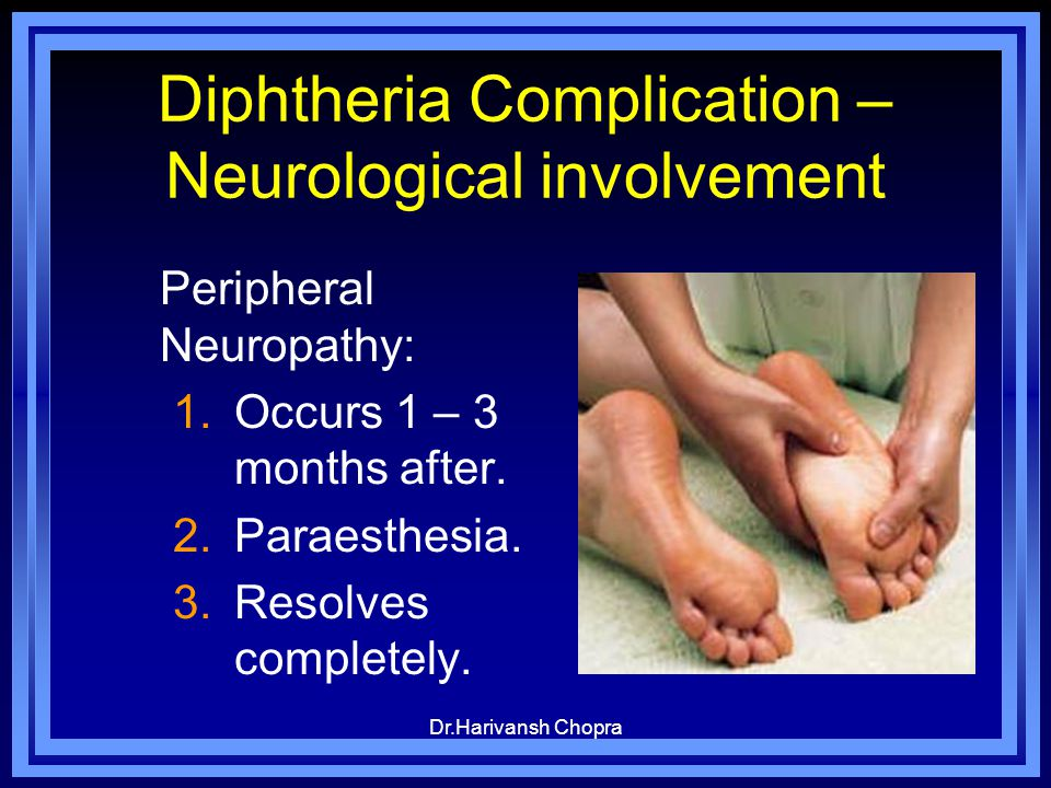 Diphtheria Complication – Neurological involvement