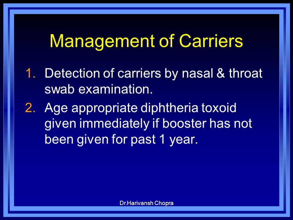Management of Carriers
