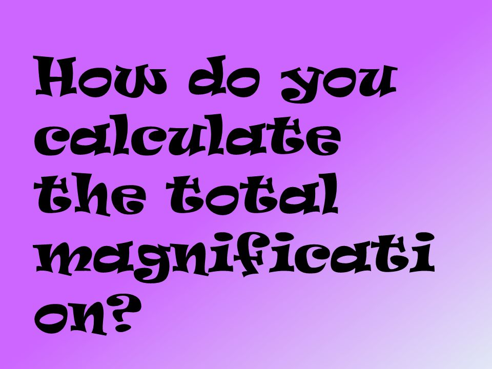 How do you calculate the total magnification