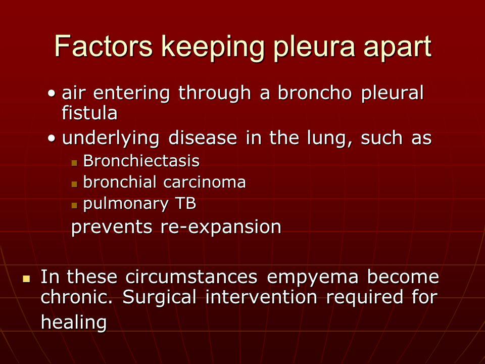 Factors keeping pleura apart