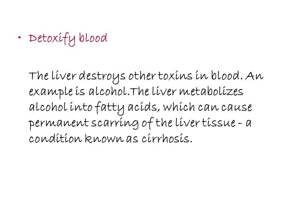 Detoxify blood