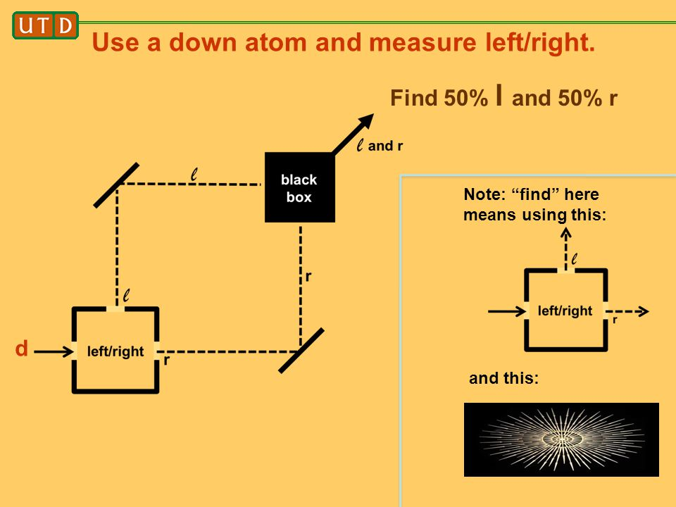 Use a down atom and measure left/right.