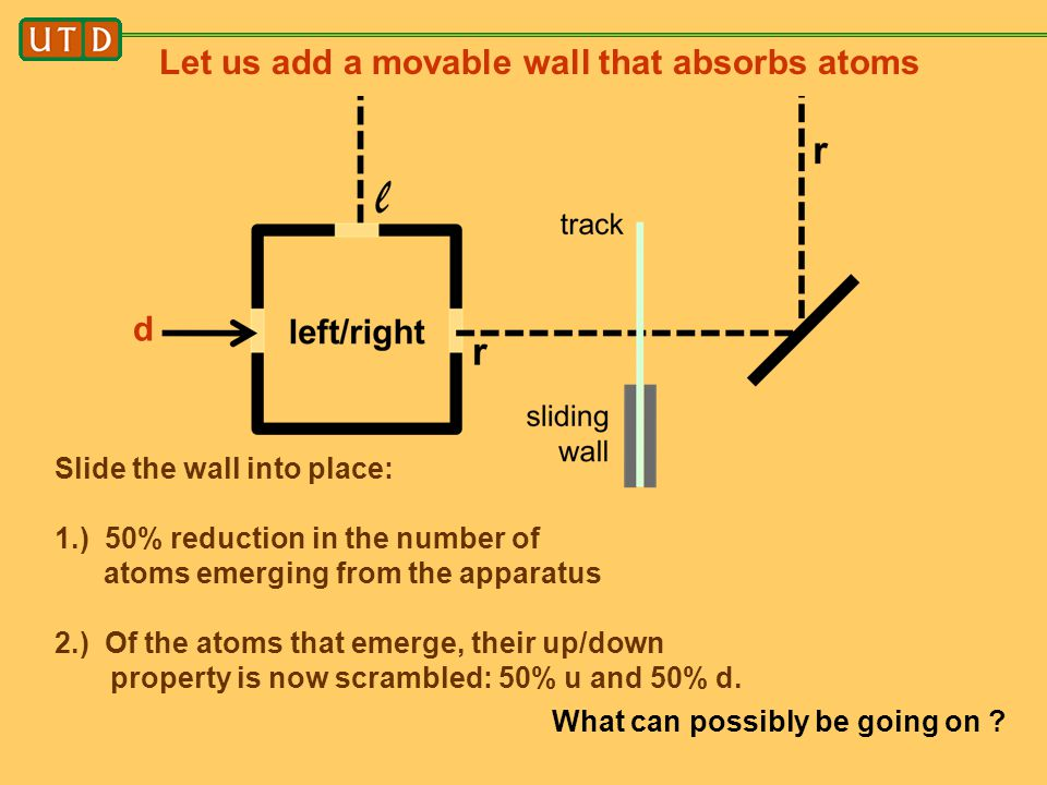 Let us add a movable wall that absorbs atoms