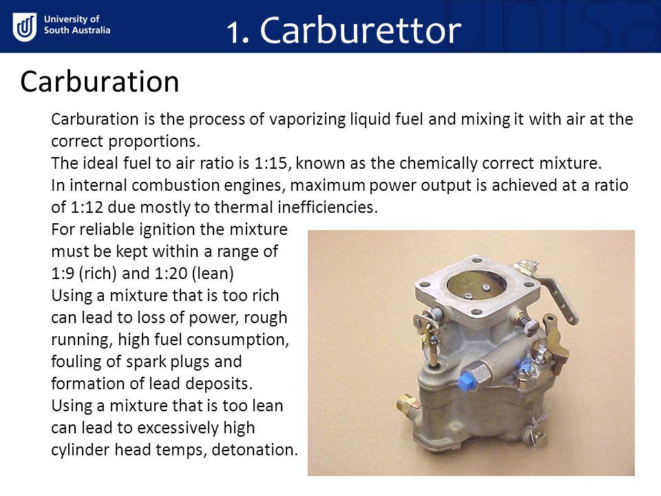 1. Carburettor Carburation