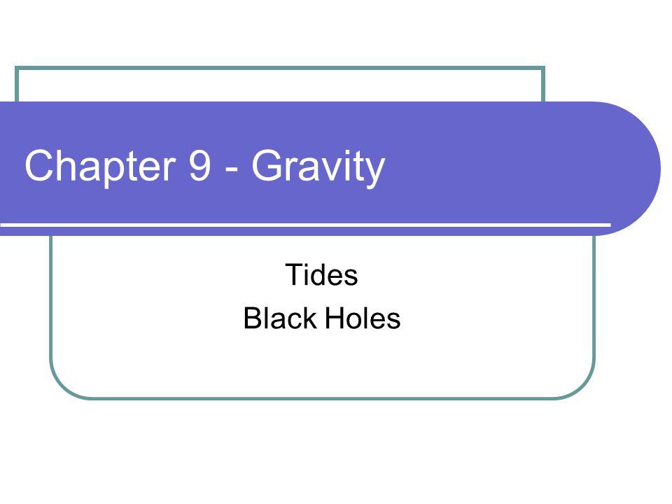 Chapter 9 - Gravity Tides Black Holes