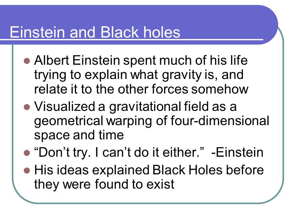 Einstein and Black holes
