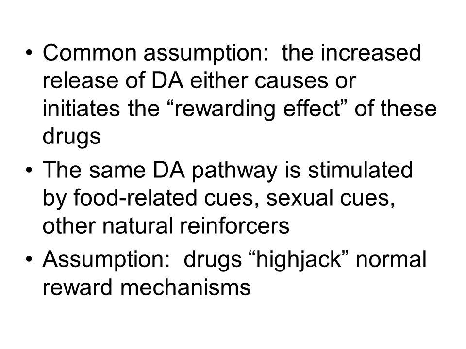 Assumption: drugs highjack normal reward mechanisms