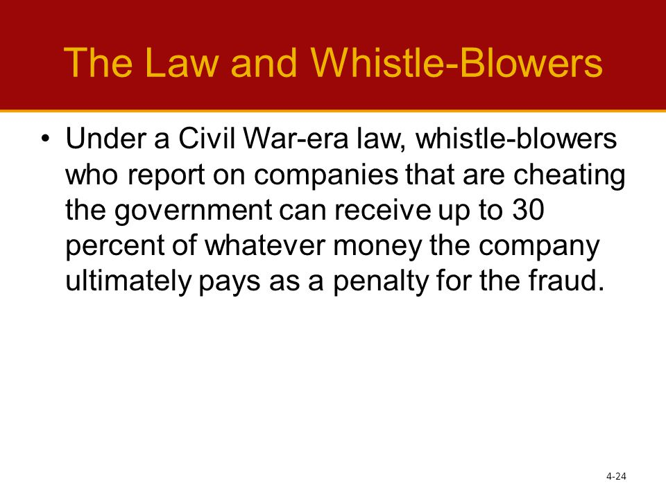 The Law and Whistle-Blowers