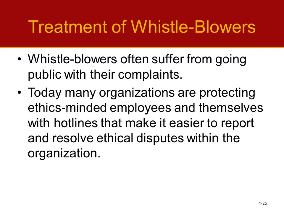 Treatment of Whistle-Blowers