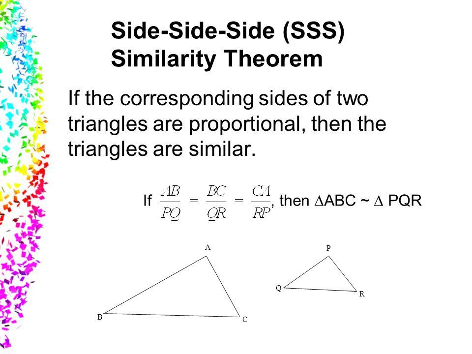 Side-Side-Side (SSS) Similarity Theorem