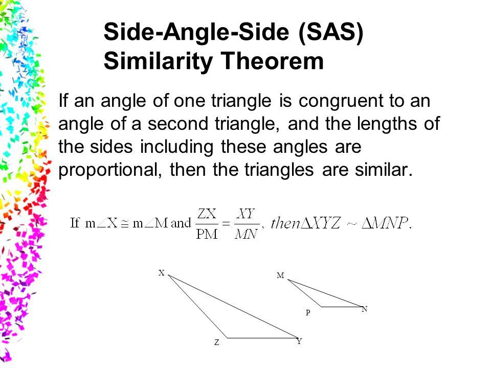 Side-Angle-Side (SAS) Similarity Theorem