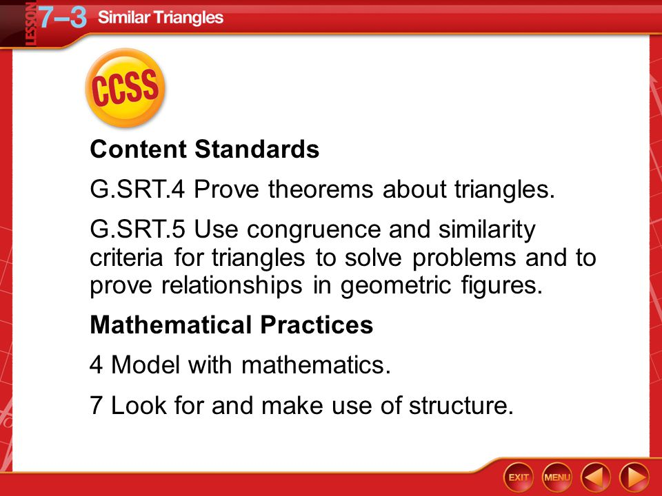 G.SRT.4 Prove theorems about triangles.