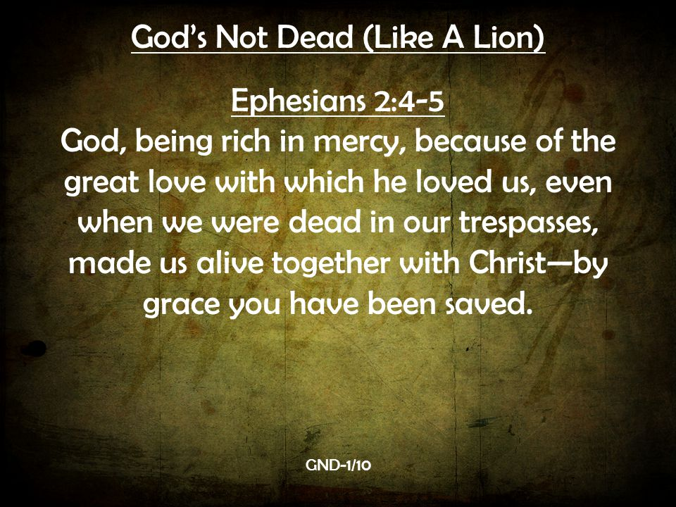 God's Not Dead (Like A Lion)