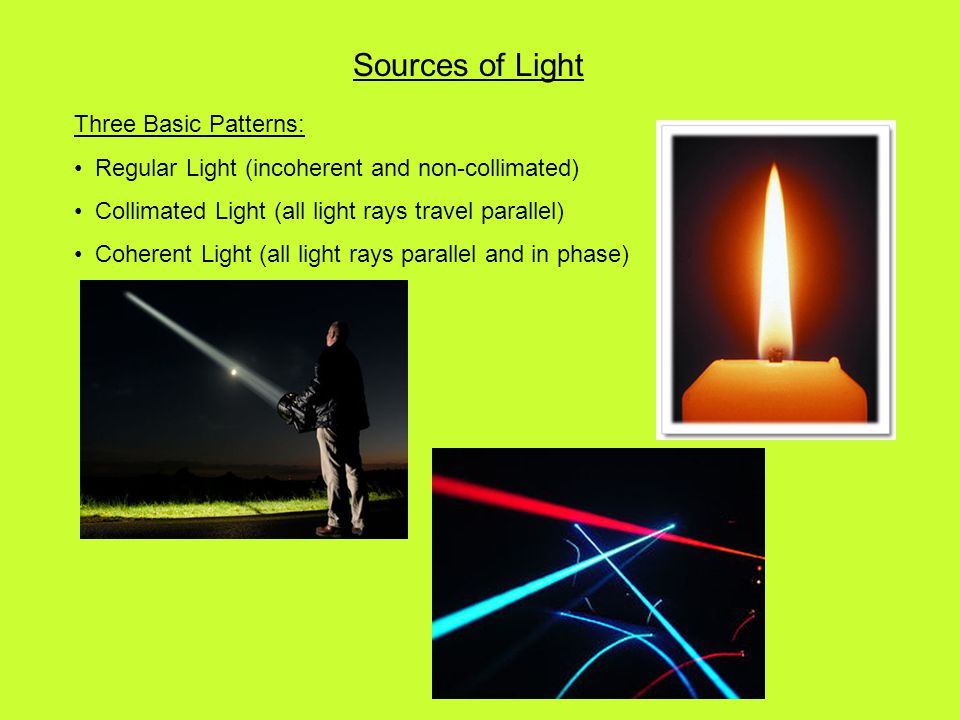 Sources of Light Three Basic Patterns: