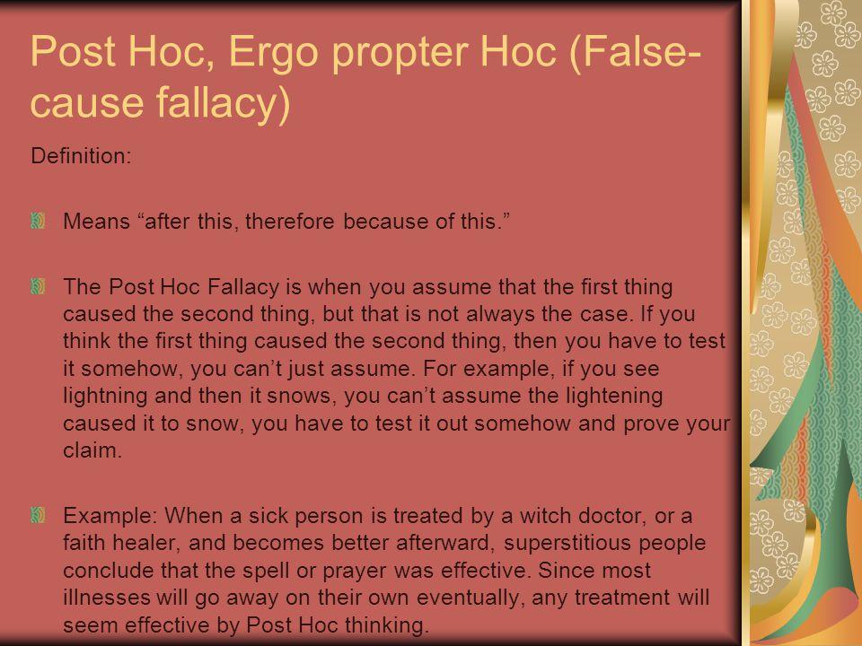 Rhetoric essay fallacy