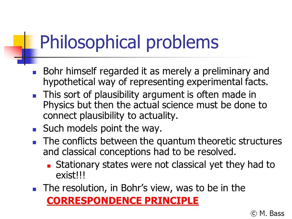 Philosophical problems