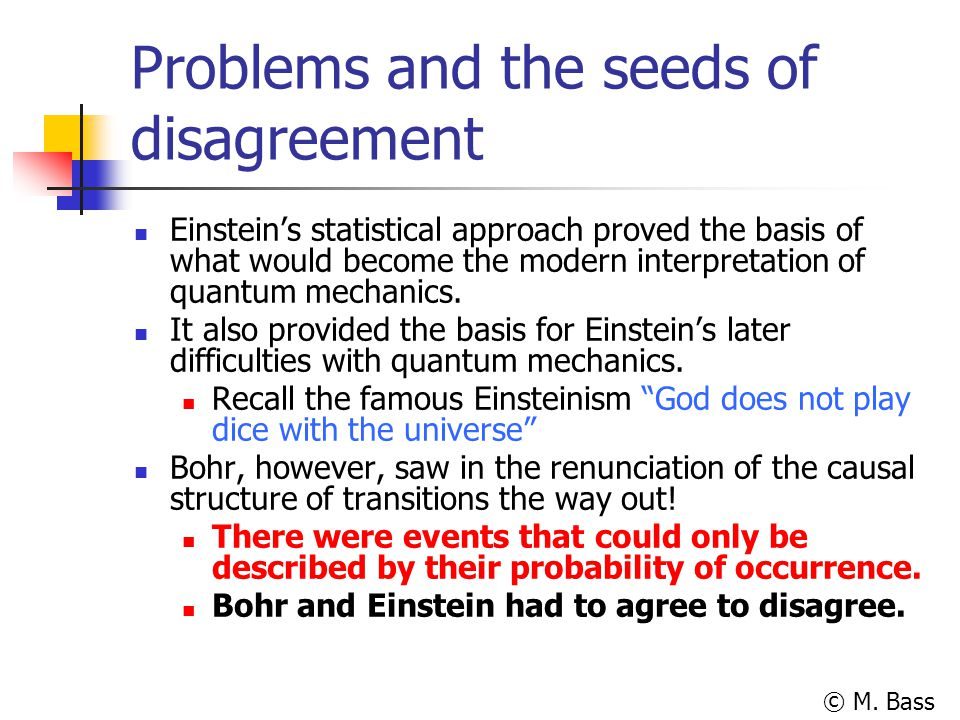 Problems and the seeds of disagreement