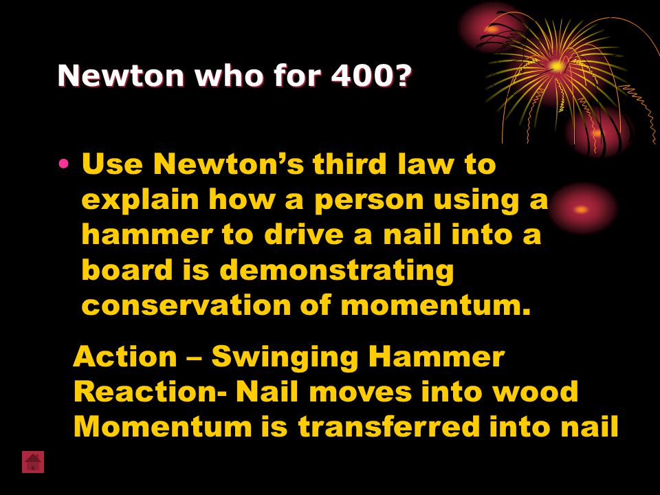 Newton who for 400