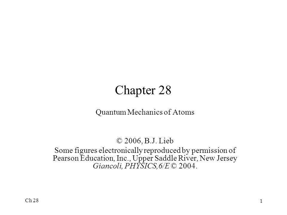 Quantum Mechanics of Atoms