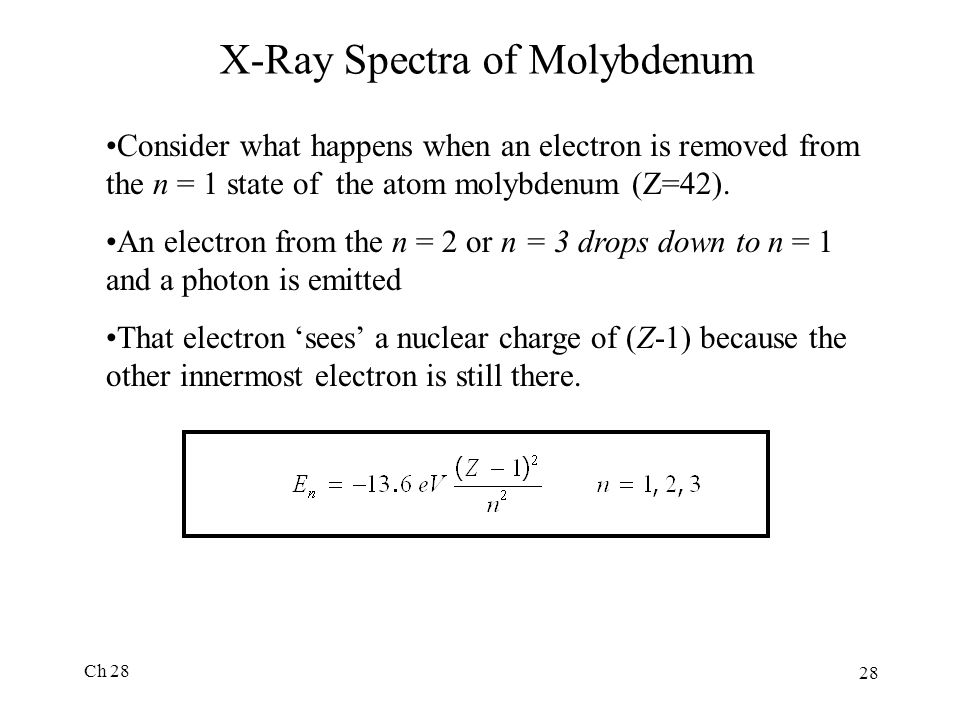 X-Ray Spectra of Molybdenum