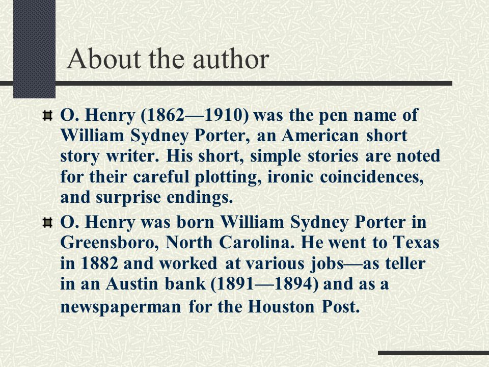 after twenty years o henry ppt video online  3 about