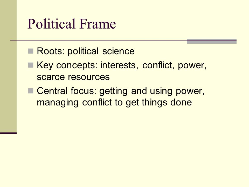 Political Frame Roots: political science