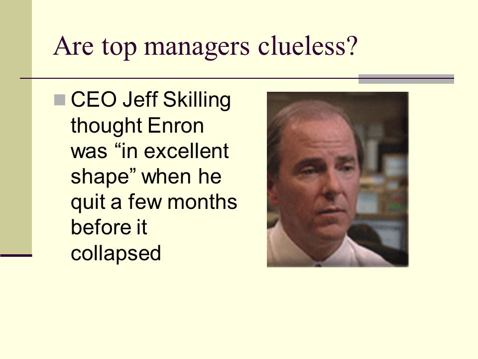 Are top managers clueless