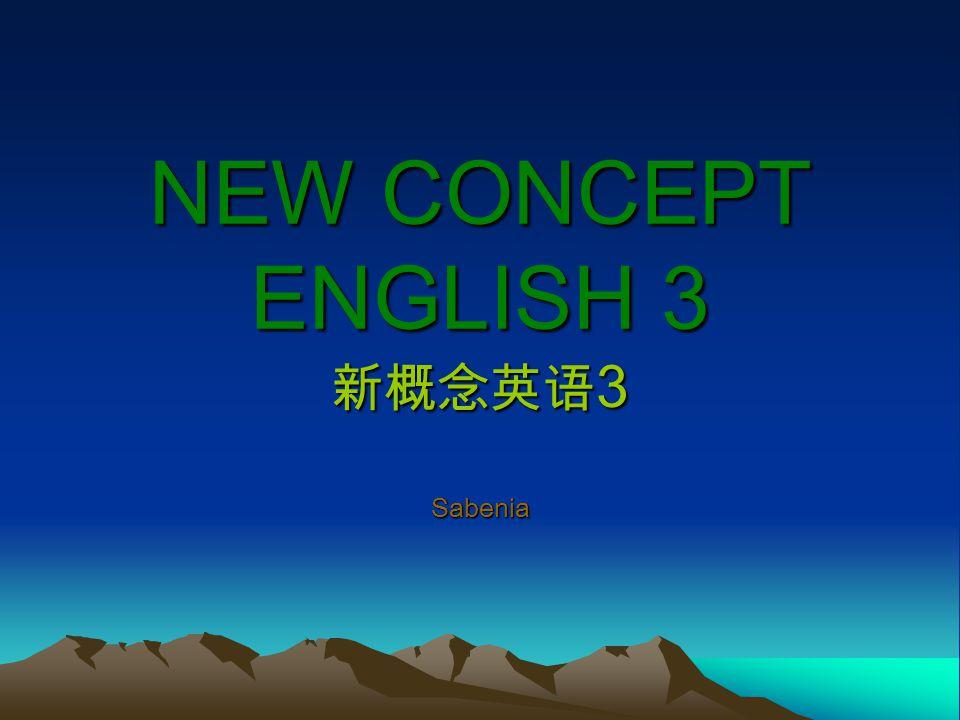 NEW CONCEPT ENGLISH 3 新概念英语3 Sabenia