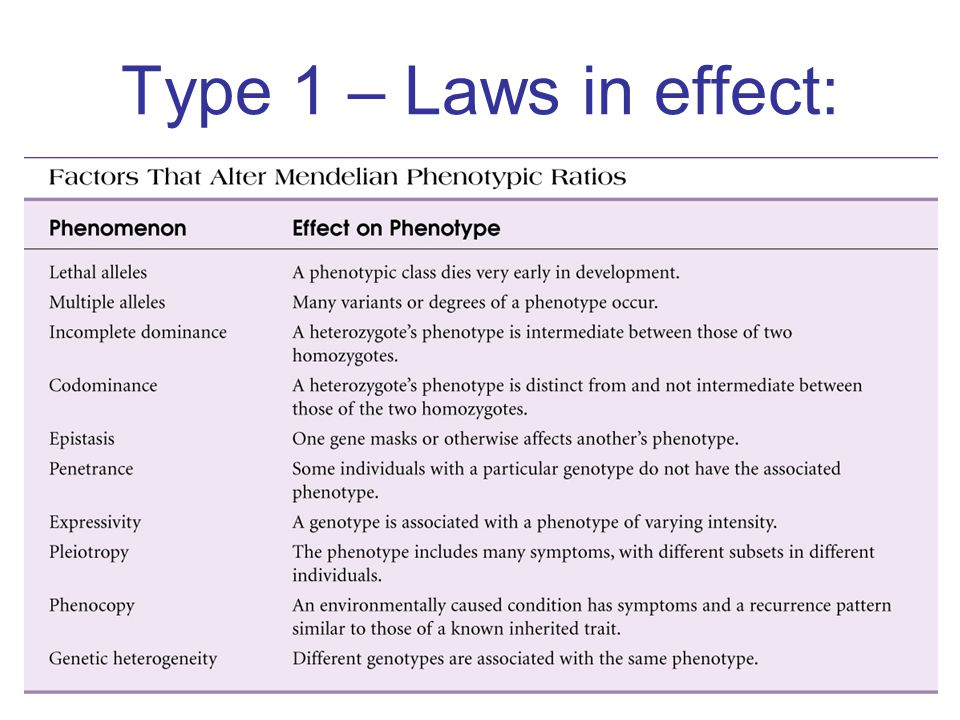 Type 1 – Laws in effect: Insert figure 5.2