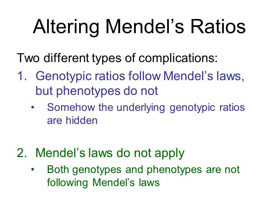 Altering Mendel's Ratios