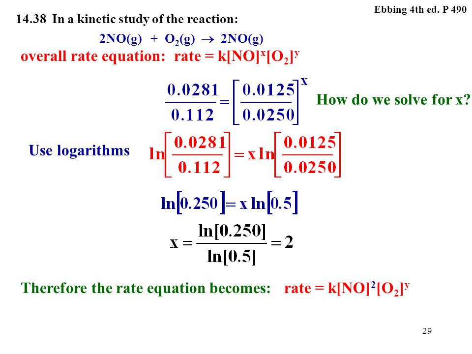 Therefore the rate equation becomes: