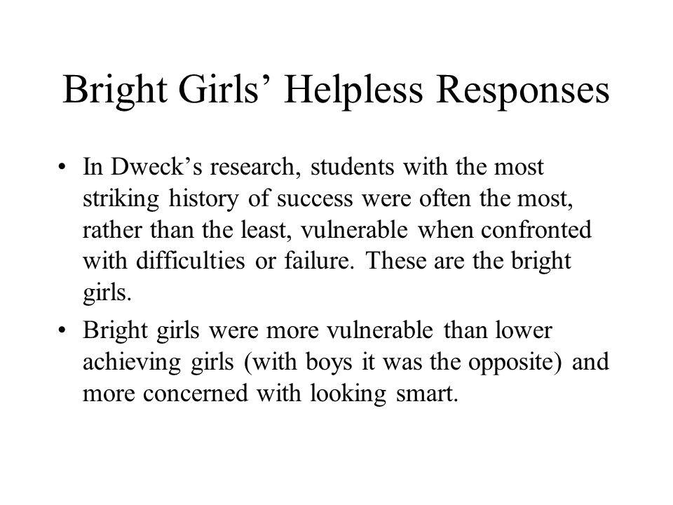 Bright Girls' Helpless Responses