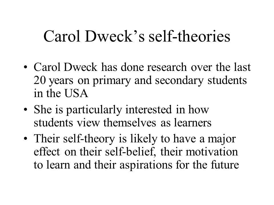 Carol Dweck's self-theories