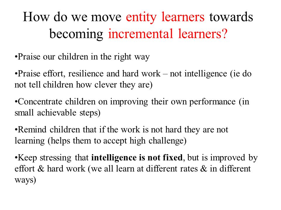 How do we move entity learners towards becoming incremental learners