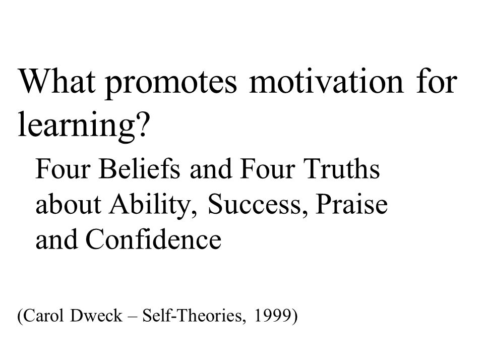 What promotes motivation for learning