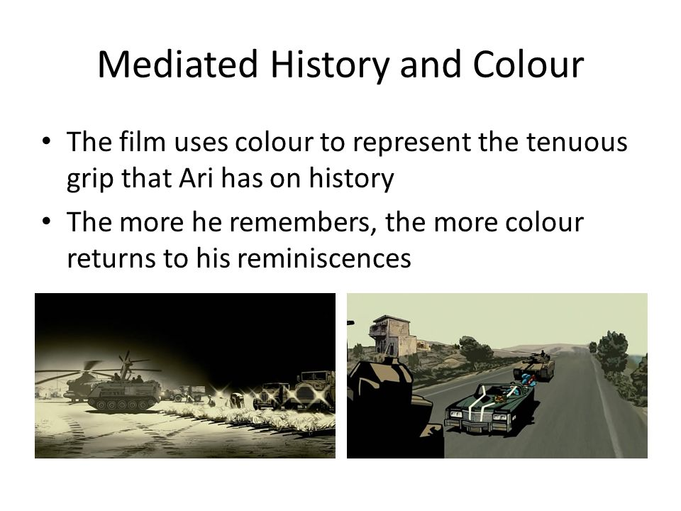 Mediated History and Colour
